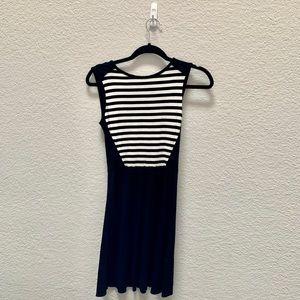 Cynthia Rowley black and white skater dress XS
